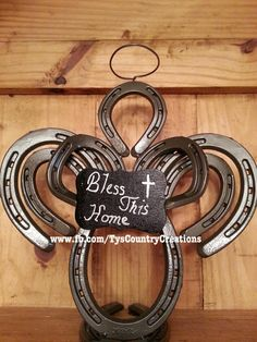Our one-of-a-kind horseshoe angel is the perfect decoration for the holidays! Order yours today by emailing us at country_creations@ymail.com www.tyscountrycreations.com