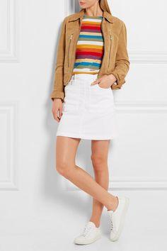 Frame Denim - Le Francoise stretch-denim mini skirt