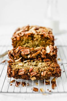 This Vegan Zucchini Bread is truly the BEST! Sweet, warm, and delicious, this recipe is great as a healthy breakfast loaf, snack, or dessert. Make this easy vegan, gluten-free recipe in no time for a wholesome treat that lasts all week long! Vegan Zucchini Recipes, Vegan Foods, Vegan Dishes, Vegetarian Recipes, Healthy Recipes, Healthy Breakfasts, Easy Recipes, Lemon Recipes, Sweet Recipes