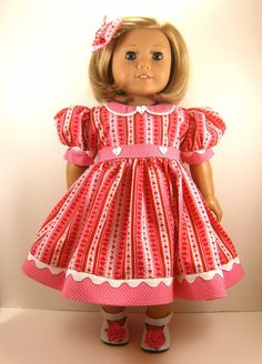American Girl Doll Clothes 18 Inch Doll Dress by dressurdolly2, $22.00