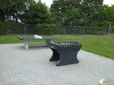 Tafelvoetbaltafel van beton Antraciet bij  Berufsakademie Sachsen in Riesa