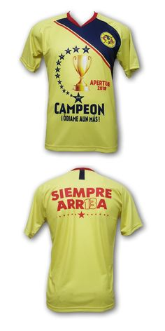 34633ff89 Clothing Shoes and Accessories 159178  Club America Apertura 2018 Campeon ! Odiame  Aun Mas! Yellow Men S Jersey -  BUY IT NOW ONLY   29.99 on  eBay ...