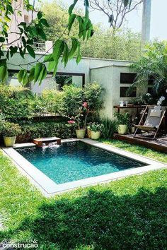 Small pools for small backyards pin by on dream house backyard swimming pools and small pools small backyard pool ideas Small Inground Pool, Building A Swimming Pool, Small Backyard Pools, Natural Swimming Pools, Small Pools, Swimming Pools Backyard, Swimming Pool Designs, Pool Landscaping, Small Backyards
