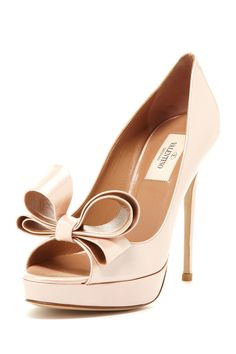 Valentino Open Toe Bow Pump