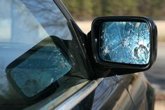 Image result for a cracked rear view mirror