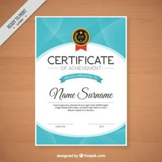Abstract certificate with a badge