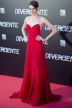 Shailene Woodley.. Donna Karan Atelier dress, Jimmy Choo heels and jewellery by Lina Noel..