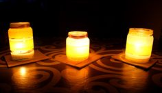 And this is how it looks like with candles...warm and cozy :)