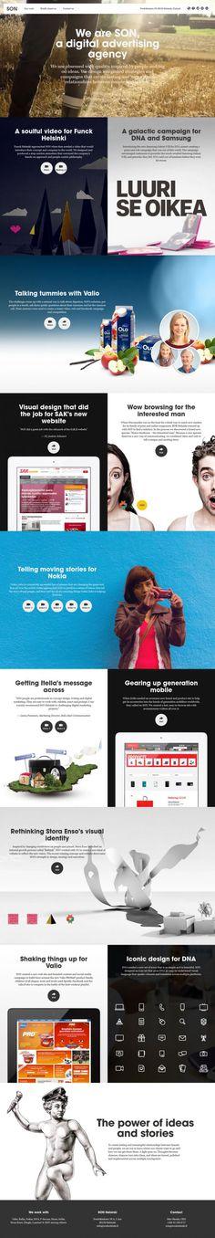 SON - digital advertising agency - Best website, web design inspiration showcase