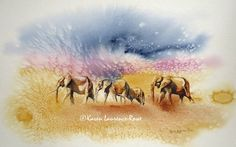 It's difficult to capture the wild beauty of Amboseli but recent guest & talented artist, Karen Rowe has nailed it with these stunning watercolours