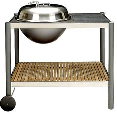 Trolley good: The JLT1 is a large charcoal barbecue with a granite sideboard