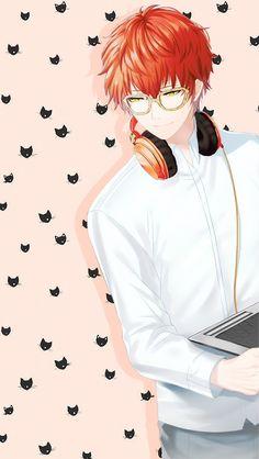 Seven and cat wallpaper cute Manga Anime, Anime Guys, Anime Art, Seven Mystic Messenger, Mystic Messenger Memes, Otaku, Luciel Choi, Tamamo No Mae, Familia Anime