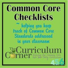 The Curriculum Corner's Common Core Checklists – Designed for middle school teachers ***We have updated our 7th and 8th grade resources to match the newest CCSS. You will find those ne…