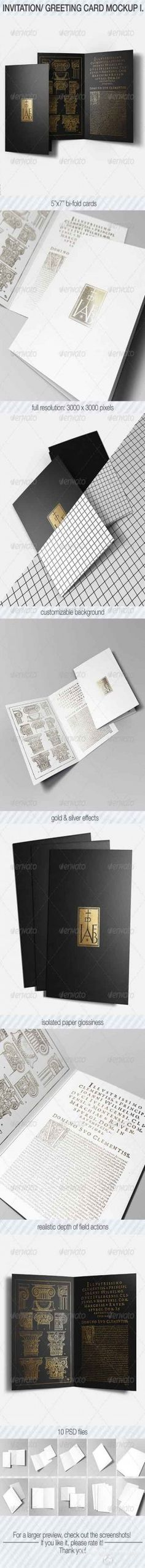 PSD – Invitation & Greeting Card Mockup Pack I » Graphicriver free . Free Download Psd ...
