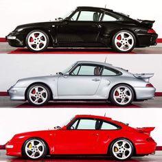 Best Porsche 911 Generation? The 993 Turbo in 3 Colors [1080x1080] via Classy Bro