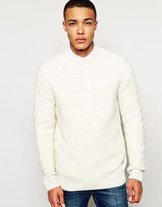 Enlarge Bellfield Crew Neck In Mixed Rib Stitch