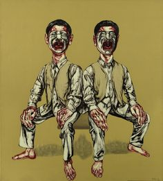 MASK SERIES-26, Zeng Fanzhi (曾梵志; b1964, Wuhan, Hubei Province, China; based in Beijing)