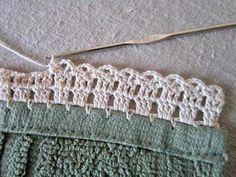 "Miss Abigail's Hope Chest: ""Garden Series"" Crochet Edgings: #1-The Garden Fence ༺✿ƬⱤღ✿༻"