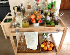green ardelle: Ikea Hack Cocktail Cart from the $30 sniglar diaper change table