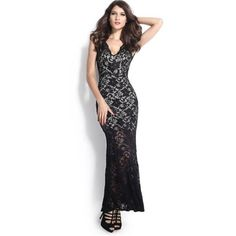 Echoine Women Formal Dresses Sexy Lace Nude Illusion V-Neck Low Backless Long Maxi Dress Sexy Party Gowns Dress Vestidos