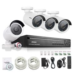 ANNKE 4CH NVR 960P IP Network PoE Video Record IR Outdoor CCTV Security Camera System Home video Surveillance kit #women, #men, #hats, #watches, #belts, #fashion, #style