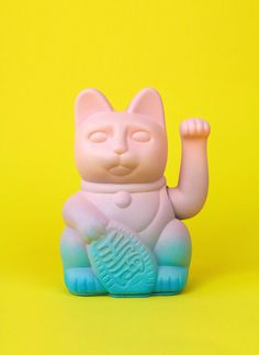 Dealing With Cat Allergies Neko Cat, Maneki Neko, Cat Allergies, Ad Of The World, Still Photography, Fade Color, Toy Art, Mellow Yellow, Vaporwave