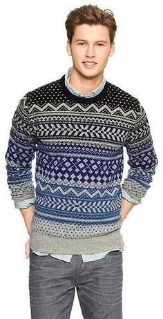 Gap Nordic Ombre Fair Isle Sweater