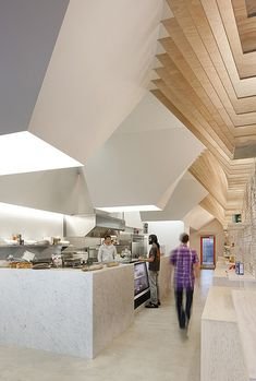 modern architecture, cafe, interior design