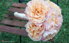 From Flower Muse blog - SUPER easy DIY Bouquet Recipe featuring Campanella Peach Garden Roses