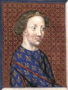 Louis II, duc de Bourbon (†1410) (Gaignières 453) -- Dessin d'une miniature, Fonds Gaignières [BNF Est. Réserve Oa-13-Fol., Fol. 25. Bouchot, 453] -- «Louis II. duc de Bourbon, comte de Clermont, pair et grand chambrier de France.»
