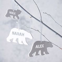 Polar Bear Personalised Christmas Decorations - garlands, bunting & hanging decorations