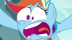 #1147610 - face, faic, no second prances, open mouth, rainbow dash, reaction, reaction image, safe, screencap, shocked, solo, spoiler:s06e06, teeth, tongue out - Derpibooru - My Little Pony: Friendship is Magic Imageboard