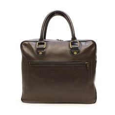 Louis Vuitton Huron Utah Briefcases Brown Leather M92532