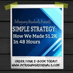 Money education manage your finances pinterest rich dad and simple strategy ebook how we made 512k in 48 hours use coupon code fandeluxe Choice Image