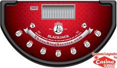 Custom Blackjack Layout Designs - Three Ring Service by Casinosupply.com