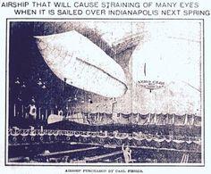 Fisher Airship - 1906   First Super Speedway