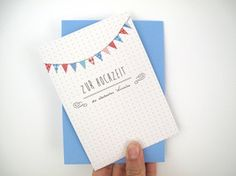 K009 Klappkarte Zur Hochzeit Klappkarte gedruckt auf hochwertigem Recyclingpapier mit passendem Umschlag.  2,80 € inkl. MwSt., zzgl. Versandkosten