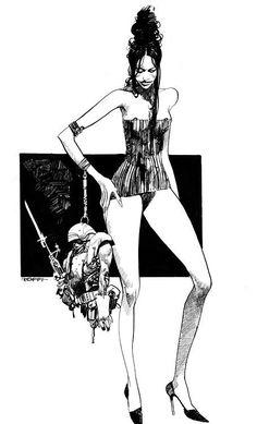 Ink Illustrations, Illustration Art, Ex Libris, Bloom Book, Graphic Novel Art, Portrait Sketches, Comic Books Art, Erotic Art, Female Art