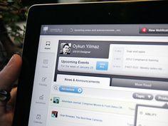 Home Screen (iPad App UX/UI) by Oykun #UX #UI #interface #design #app #iphone
