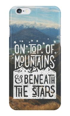 """On Top Of Mountains"" iPhone Cases & Skins by cabinsupplyco 