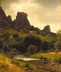 Summer Pastorale (View of Kallenfels)  by Thomas Worthington Whittredge