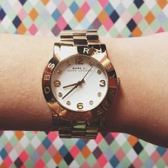 Marc by Marc Jacobs Amy watch, via laurenchristeee