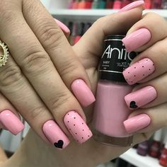 Fails design valentines coffin 60 Ideas for 2019 Pretty Nail Art, Cute Nail Art, Cute Nails, Girls Nails, Pink Nails, Stylish Nails, Trendy Nails, Perfect Nails, Gorgeous Nails