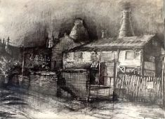 Normacot road Longton (pen drawing) Jean Weir