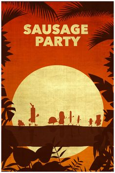 Sausage Party (2016) ~ Minimal Movie Poster by Kulascapes #amusementphile