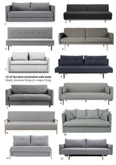 12 of the best minimalist sofa beds for small spaces – Sofa Design 2020 Sofa Bed For Small Spaces, Small Space Living Room, Furniture For Small Spaces, Sofa Bed Design, Living Room Sofa Design, Living Room Designs, Modern Living Room Design, Modern Couch, Country Homes Decor