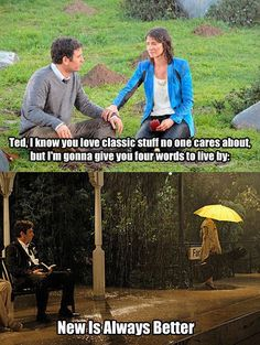 "Because of how Barney's advice was truer than he ever expected. 34 Reasons ""How I Met Your Mother"" Was The Cleverest Show On TV How I Met Your Mother, Ted Mosby, Thank You Mom, Yellow Umbrella, Himym, Movie Quotes, Ted Quotes, Life Quotes, Comedy Tv"