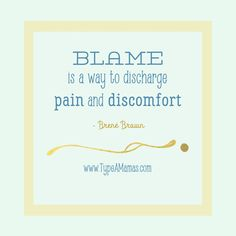 Blame is a way to di