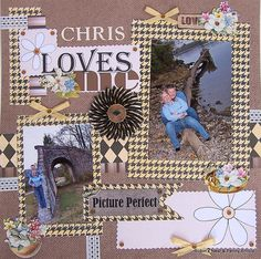 Chattering Robins: How to Make a Romantic Scrapbook Layout
