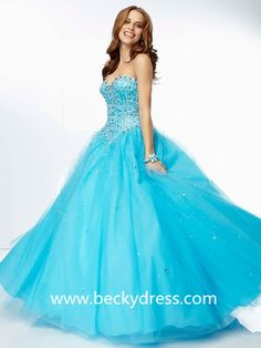 Ball Gown Sweetheart Sleeveless Tulle Quinceanera Dresses